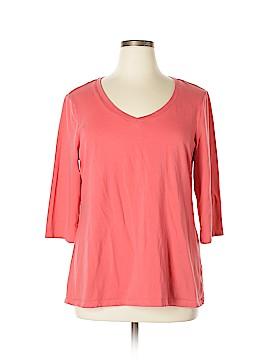 Cynthia Rowley TJX 3/4 Sleeve T-Shirt Size 2X (Plus)