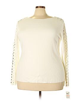 INC International Concepts Long Sleeve Top Size 2X (Plus)