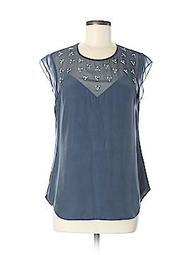 La Vie Rebecca Taylor Short Sleeve Silk Top Size 6