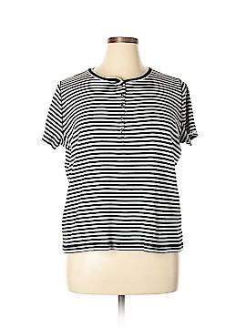 Chaps Short Sleeve Henley Size 2X (Plus)