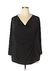Dana Buchman Women 3/4 Sleeve Top Size 3X (Plus)