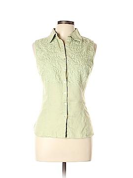 Carole Little Sleeveless Button-Down Shirt Size L