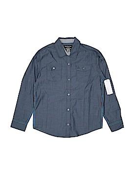 CALVIN KLEIN JEANS Long Sleeve Button-Down Shirt Size 10 - 12