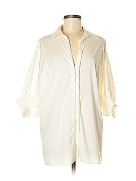 BCBGMAXAZRIA 3/4 Sleeve Button-Down Shirt Size M
