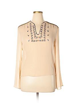 BCBGMAXAZRIA Long Sleeve Silk Top Size 12