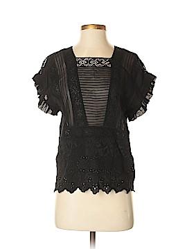 Ulla Johnson Short Sleeve Silk Top Size 2