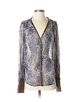 Elizabeth Long Sleeve Silk Top Size XS