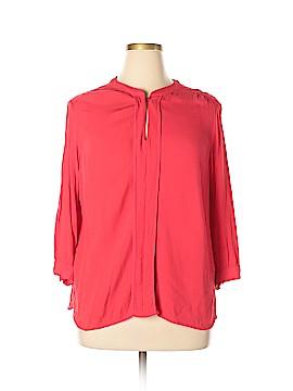 Dalia Collection 3/4 Sleeve Blouse Size 2X (Plus)