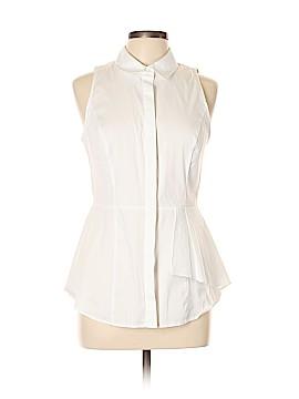 White House Black Market Sleeveless Button-Down Shirt Size 10