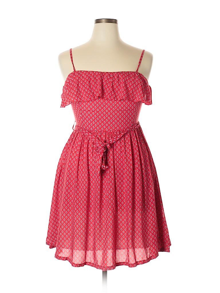 e45b2025156f Koton 100% Viscose Print Red Casual Dress Size 42 (EU) - 88% off ...
