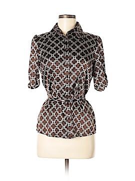 INC International Concepts Short Sleeve Silk Top Size 6