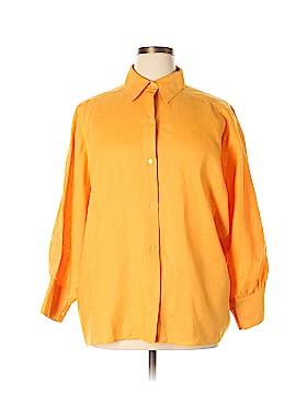 Neiman Marcus Long Sleeve Button-Down Shirt Size 16