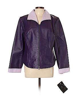 Larry Levine Leather Jacket Size L