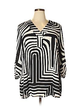 Roz & Ali Long Sleeve Blouse Size 1X (Plus)