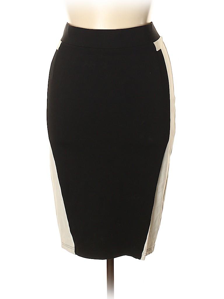 6611a85b33a Torrid Stripes Black Casual Skirt Size 1X Plus (1) (Plus) - 73% off ...