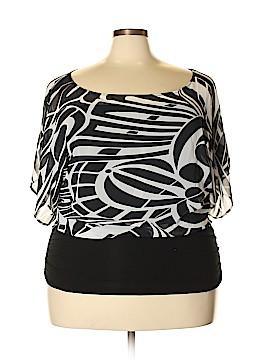 Janette Plus Short Sleeve Blouse Size 3X (Plus)