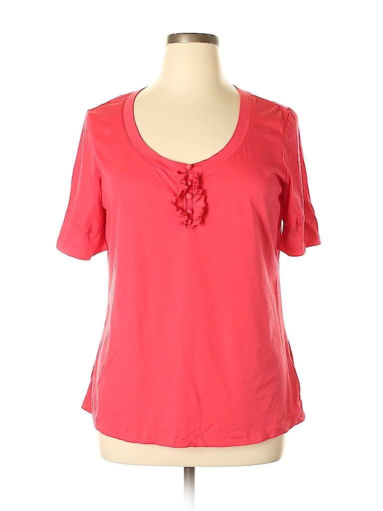L.L.Bean Women Short Sleeve Henley Size XL