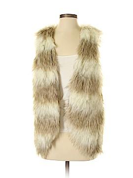 Skies Are Blue Faux Fur Vest Size XS