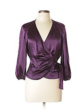 Diane von Furstenberg 3/4 Sleeve Silk Top Size 6