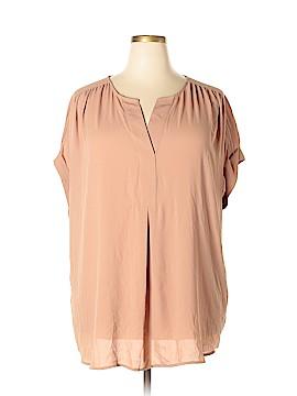 Charter Club Short Sleeve Blouse Size 2X (Plus)