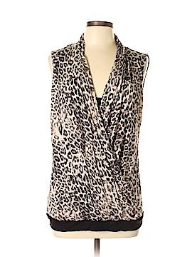Jennifer Lopez Sleeveless Button-Down Shirt Size L