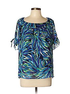 Allison Morgan Short Sleeve Blouse Size L