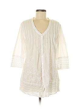 Soft Surroundings 3/4 Sleeve Blouse Size S (Petite)