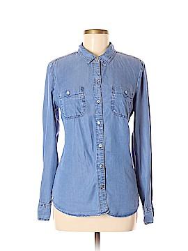 Chambrai Long Sleeve Button-Down Shirt Size M
