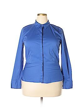 Liz Claiborne Long Sleeve Button-Down Shirt Size XL