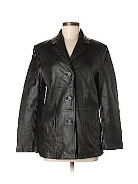 Anne Klein Leather Jacket Size S