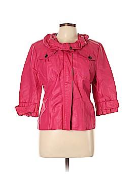 Solitaire Faux Leather Jacket Size L