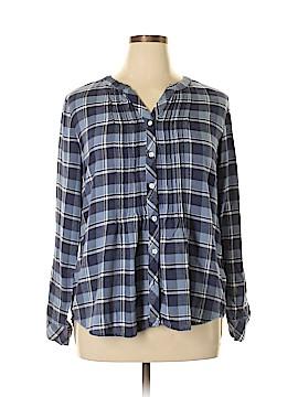 Croft & Barrow Long Sleeve Button-Down Shirt Size L