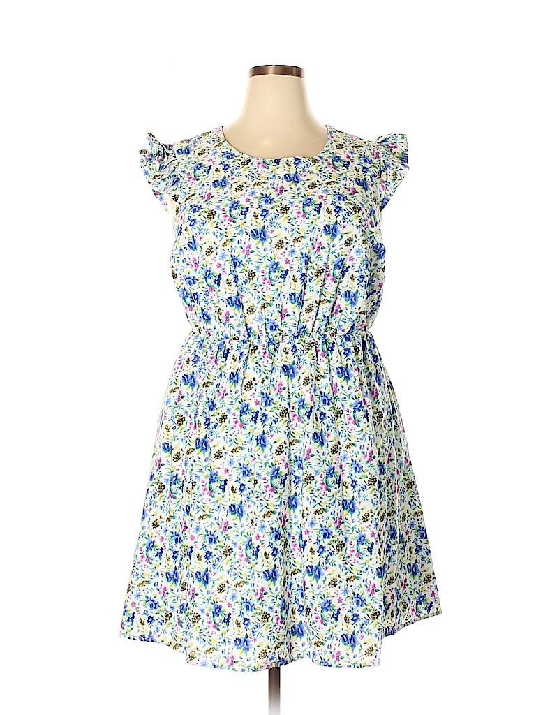 Moon Women Casual Dress Size 1X (Plus)