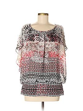 Style&Co Short Sleeve Blouse Size L