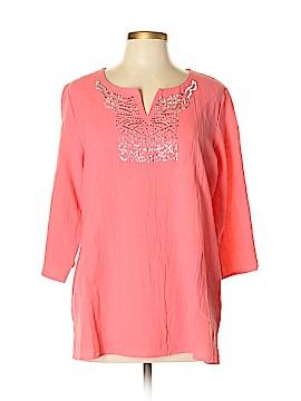 Susan Graver 3/4 Sleeve Blouse Size L