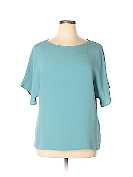 Lafayette 148 New York Short Sleeve Silk Top Size 16