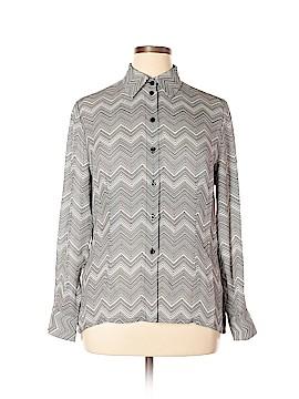 Nygard Collection Long Sleeve Silk Top Size 14