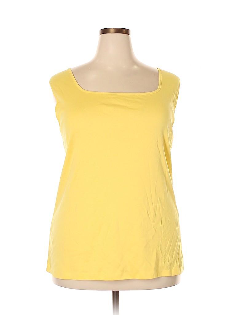 Karen Scott Women Sleeveless Top Size 3X (Plus)