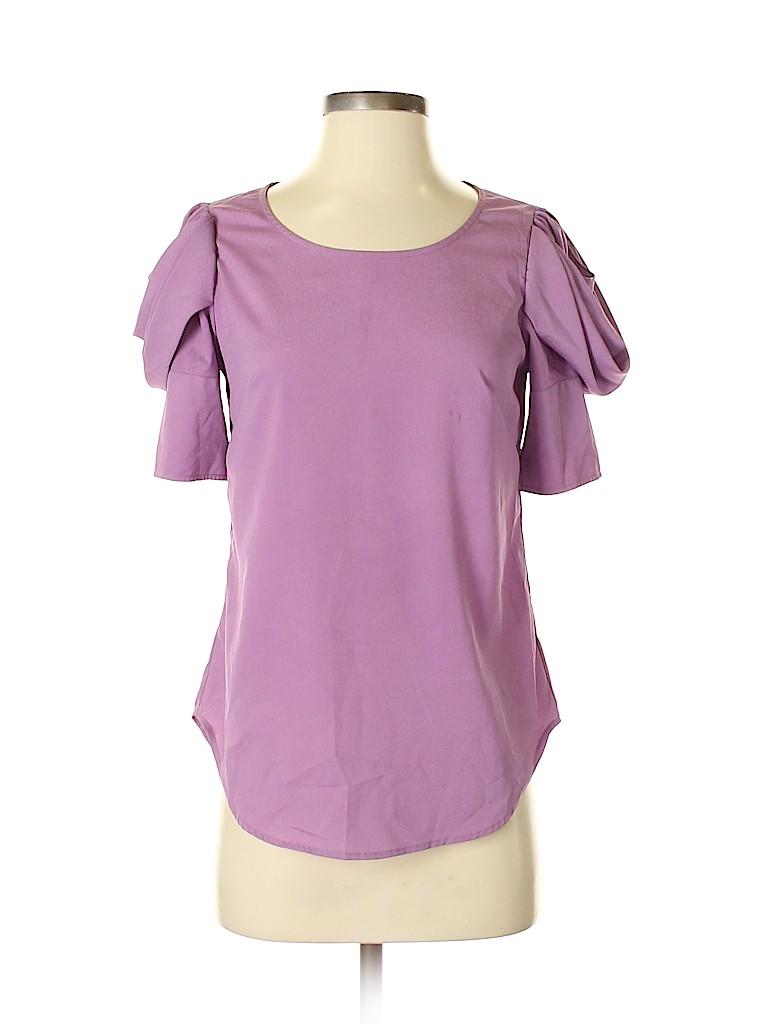 Fab'rik Women Short Sleeve Blouse Size S