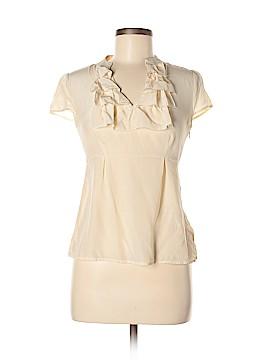 Banana Republic Factory Store Short Sleeve Silk Top Size 2
