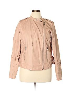Lane Bryant Faux Leather Jacket Size 14/16 Plus (Plus)