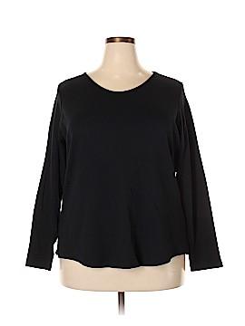 Isaac Mizrahi Long Sleeve Top Size 1X (Plus)