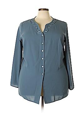 Norton McNaughton Long Sleeve Blouse Size 2X (Plus)