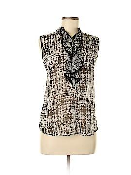 Pleione Sleeveless Button-Down Shirt Size M