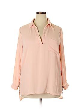 Charlotte Russe Long Sleeve Blouse Size 1X (Plus)