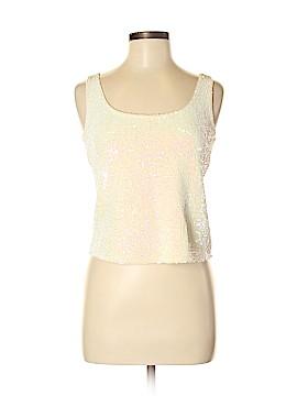 Lafayette 148 New York Sleeveless Silk Top Size M