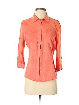Elie Tahari 3/4 Sleeve Button-Down Shirt Size S