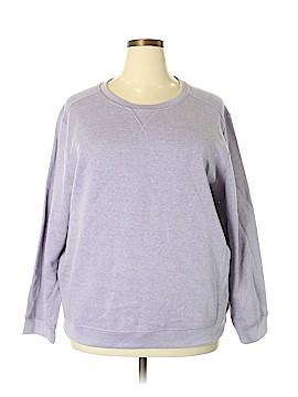Karen Scott Sport Sweatshirt Size 2X (Plus)