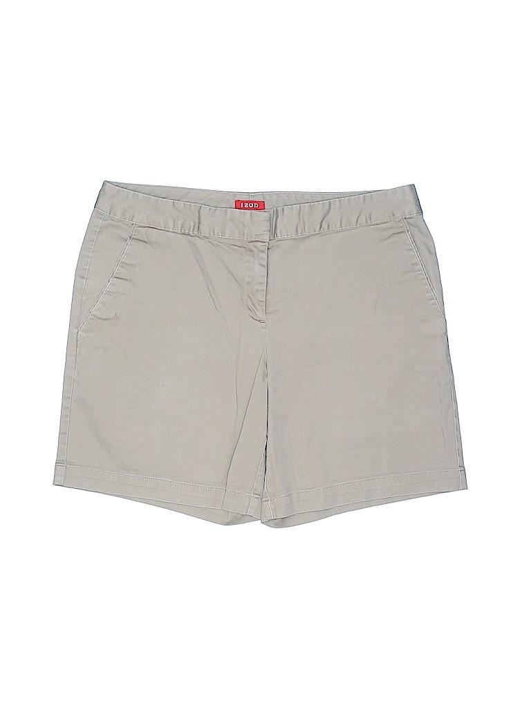 IZOD Women Khaki Shorts Size 6