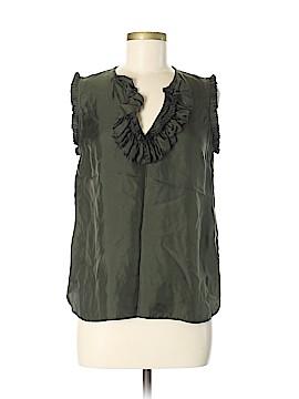 J. Crew Short Sleeve Silk Top Size 6